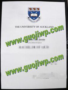 University of Auckland degree certificate