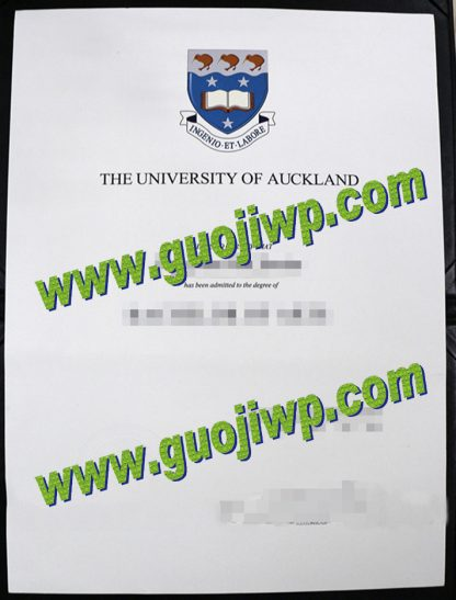 University of Auckland degree certificate