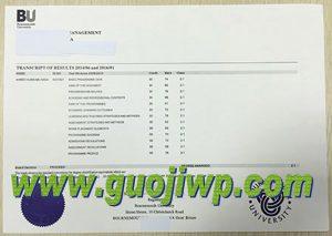 fake Bournemouth University transcript