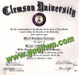 fake Clemson University diploma