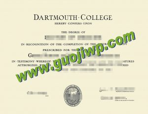 Dartmouth College certificate