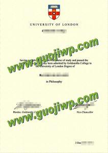 Goldsmiths, University of London degree certificate