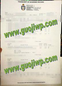 fake Hong Kong University of Science and Technology transcript