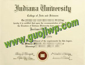 fake Indiana University Bloomington degree certificate