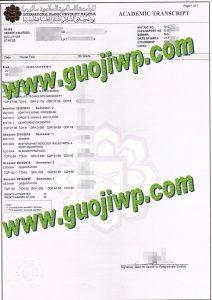 fake International Islamic University Malaysia transcript