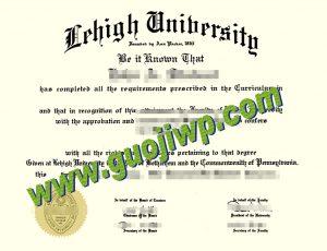 fake Lehigh University diploma
