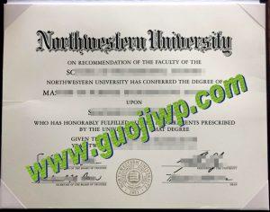 Northwestern University degree certificate