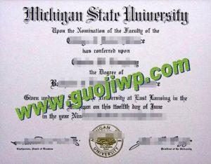 buy MSU degree certificate