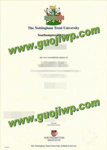 buy fake Nottingham Trent University diploma