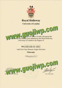 Royal Holloway fake degree