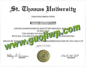 fake St. Thomas Univerity degree certificate