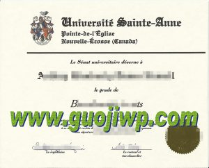 fake Université Sainte-Anne degree certificate