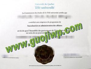 UQAC degree certificate