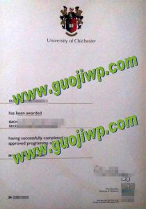 University of Chichester degree certificate