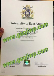 fake University of East Anglia diploma