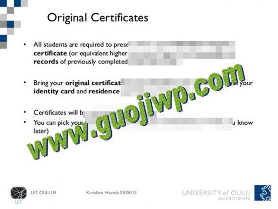 buy University of Oulu degree