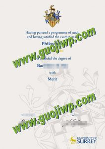 University of Surrey degree certificate